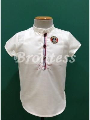 Camisa niño cuello mao Navy Lolittos