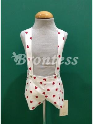 Pantalon corto corazones rojos Carina Alhuka
