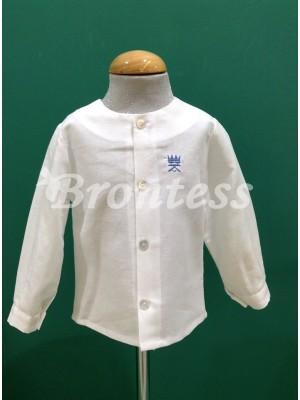 Camisa manga larga lino logotipo Alhuka