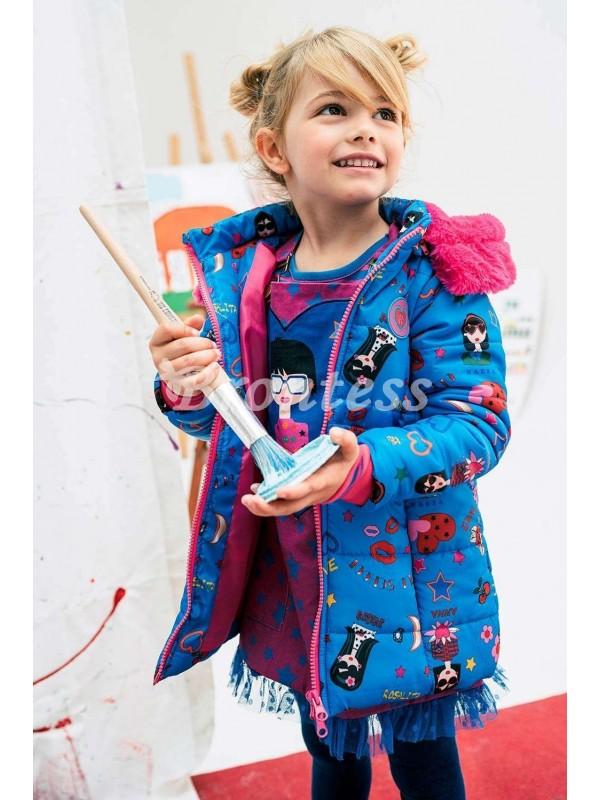 Anorak niña azul estampado Bern