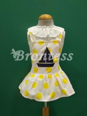 Conjunto blusa rana falda lunares barco Pio pio