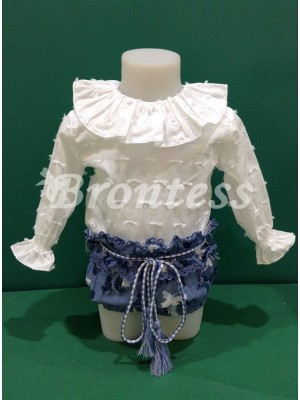 Conjunto bolboreta bebe Lolittos blusa braga