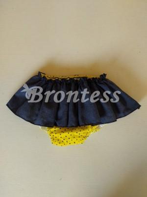 Braga falda topos amarilla limonada Ana Leza