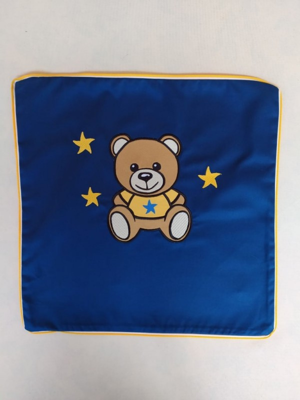 Cojín Teddy bear bordado personalizable