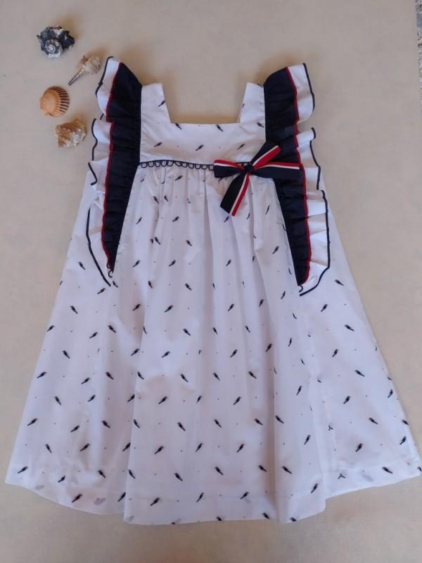 Vestido niña colibrí marinero Ana Leza