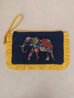 Bolso de mano bordado elefante