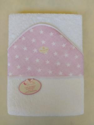 Capa de baño rosa estrellas personalizable