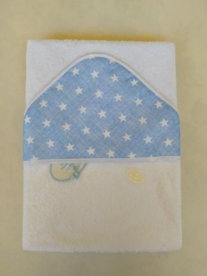 Capa de baño azul  personalizable