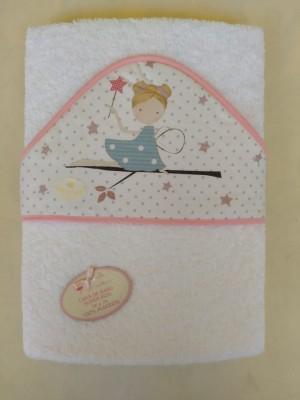 Capa de baño bebe hada personalizable con bordado