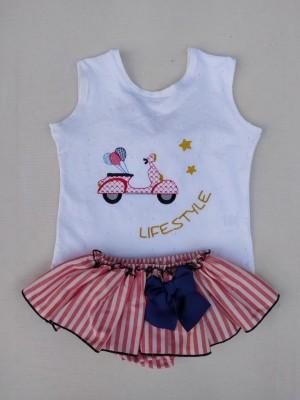 Conjunto camiseta braga moto vespa lifestyle