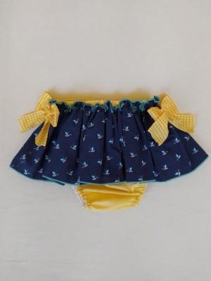 Braga falda parrulo azul patos