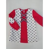Vestido felpa estrellas rojo Nekenia