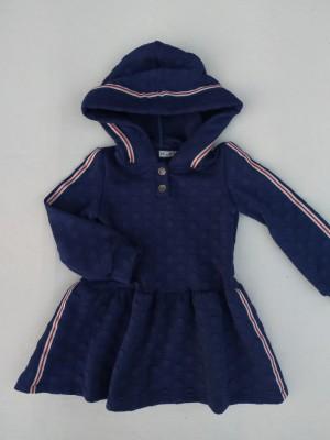 Vestido azul topos capucha Nekenia