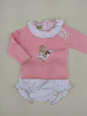 Conjunto British jersey braga rosa Lolittos