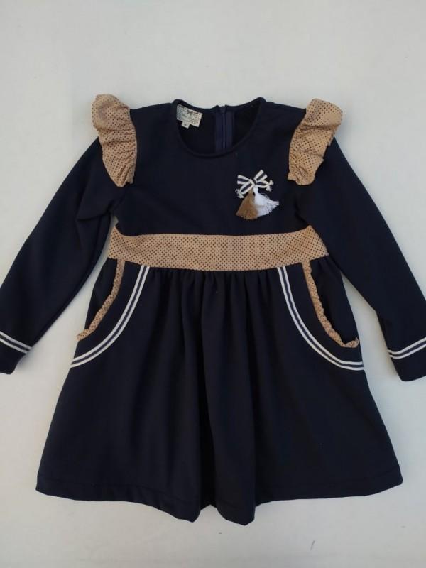 Vestido Baluma tejido sudadera marino